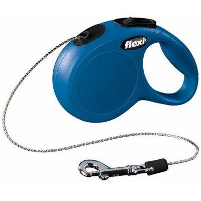 Flexi New Classic 8 Mt İpli Tasma Medium Mavi