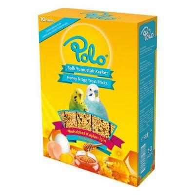 Polo Ballı Yumurtalı Muhabbet Kuşu Krakeri 10 lu Paket