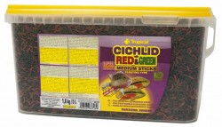 Tropical - Tropical Cichlid Red Green Medium Sticks 3600 Gr